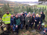 On Sunday 20th October people came from as far as Golspie and Invergordon to help clear the Carbisdale Woods walking and mountain biking trails