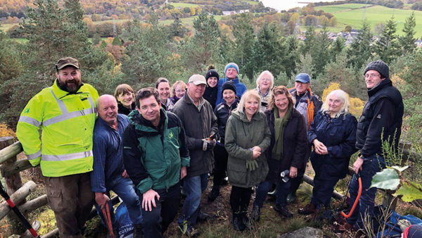 Carbisdale Trails Volunteer Day On Sunday 20th October people came from as far as Golspie and Invergordon to help clear the Carbisdale Woods walking and mountain biking trails